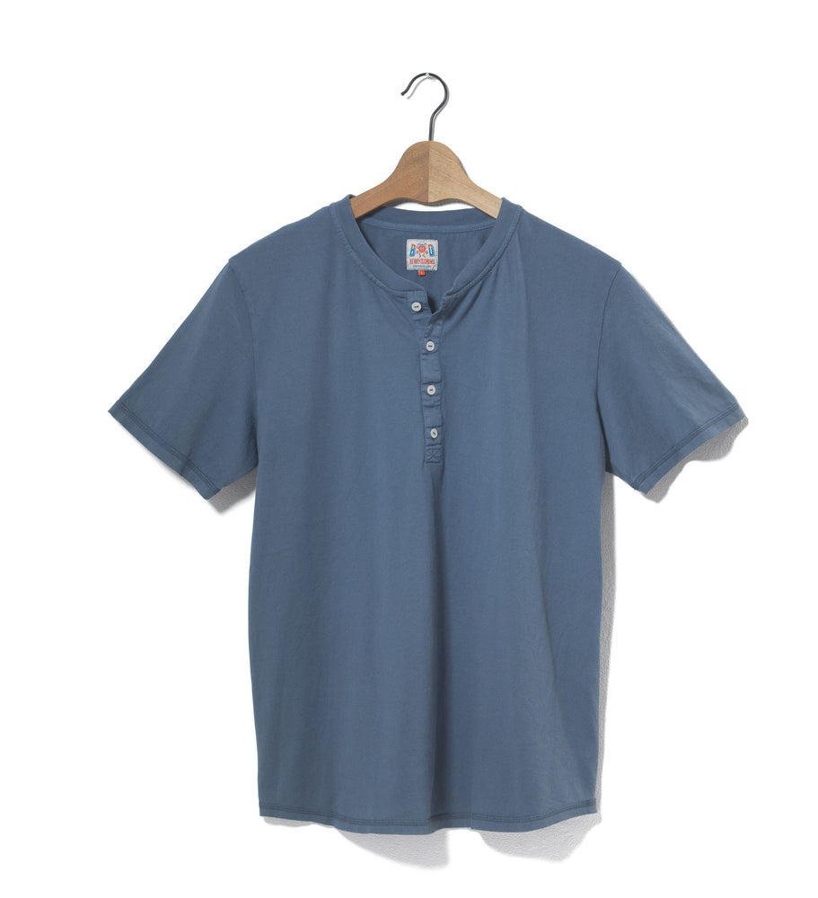 Image of Henley 1/4 Blue