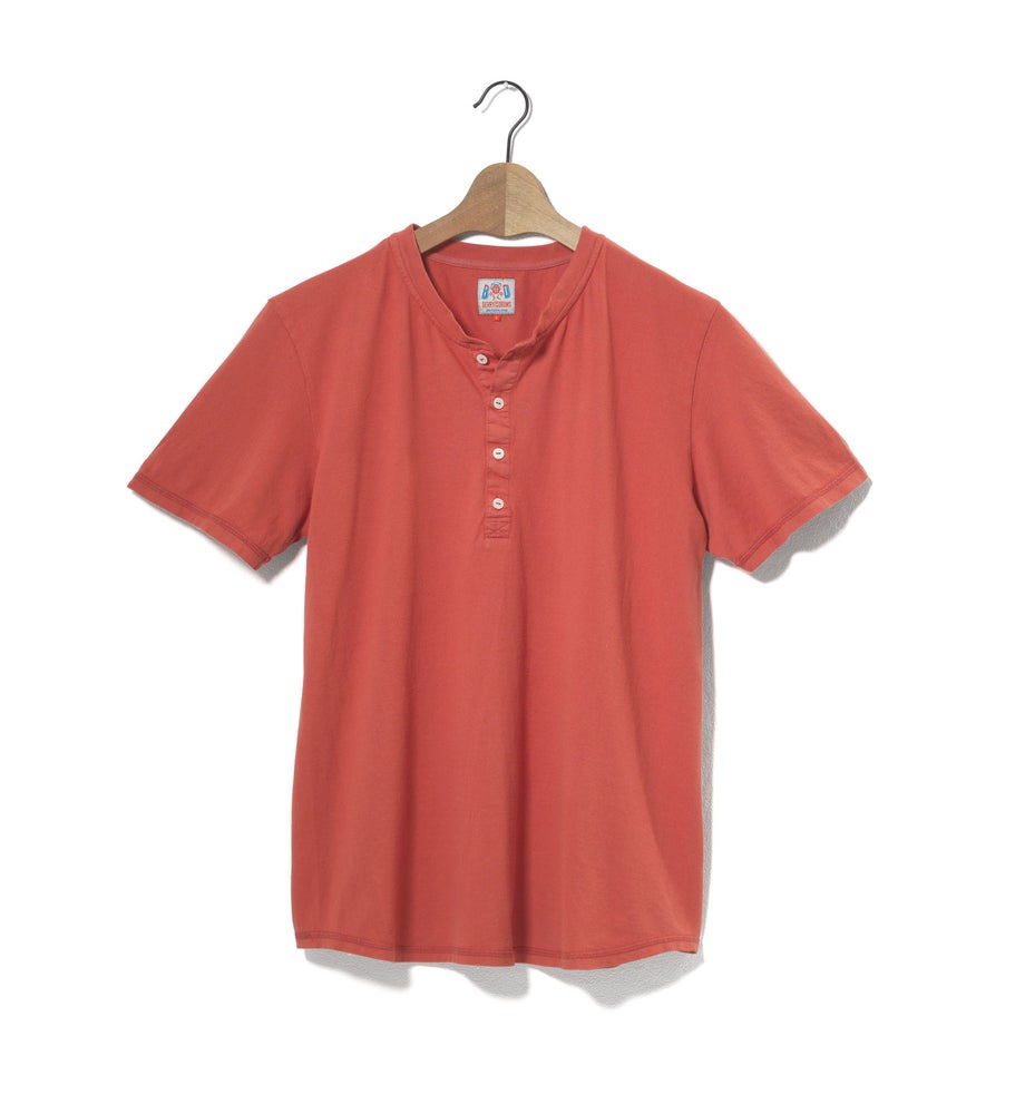 Image of Henley 1/4 Red