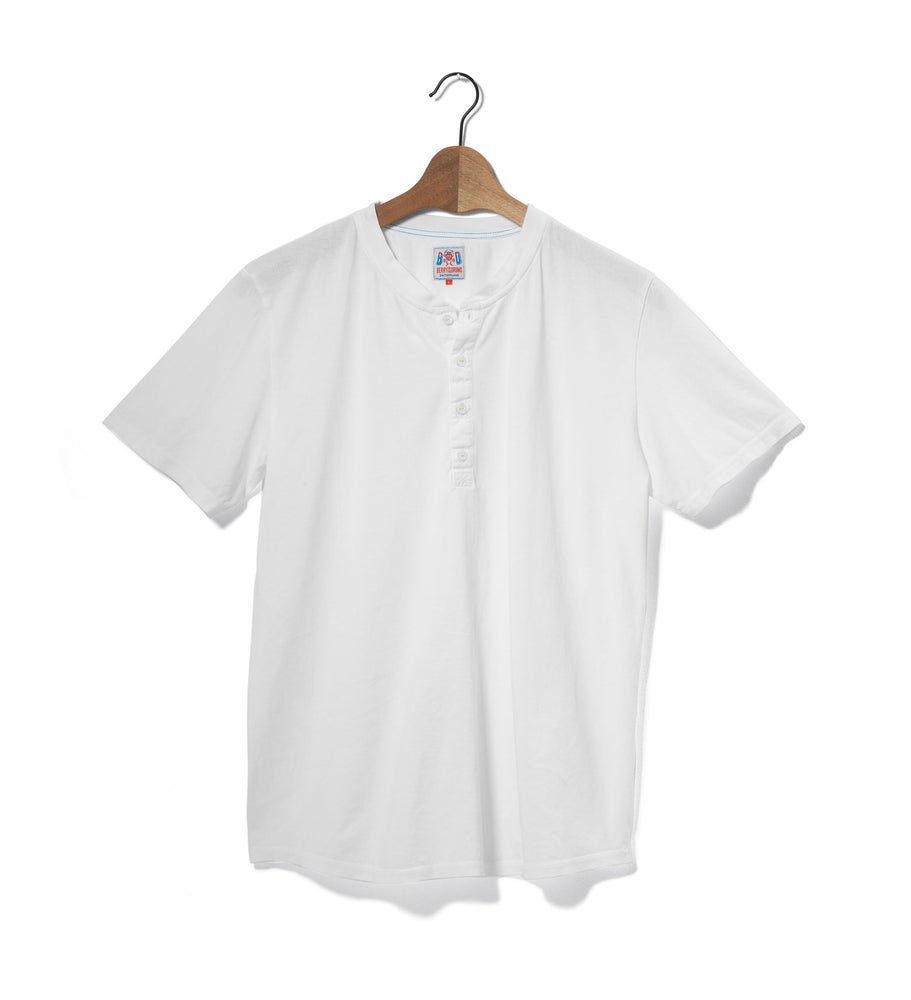 Image of Henley 1/4 White