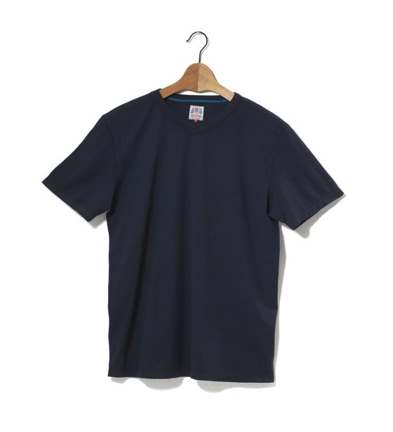 Image of V-Neck 1/4 Navy