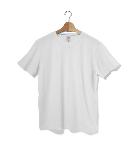 Image of V-Neck 1/4 Off White