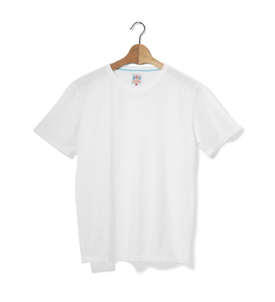 Image of V-Neck 1/4 White