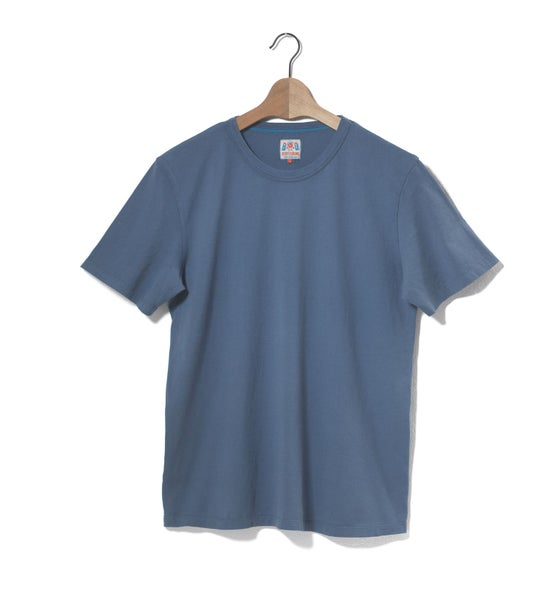 Image of Crew Neck 1/4 Blue