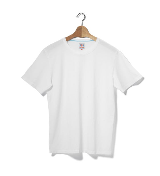 Image of Crew Neck 1/4 White