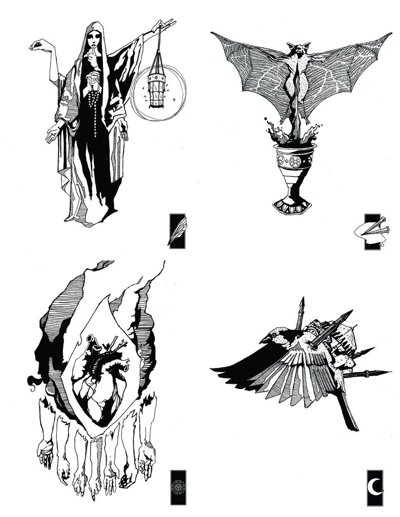 Image of All Four prints in the series