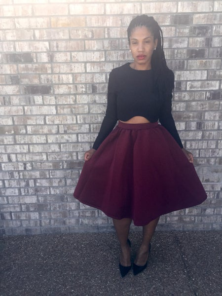 Image of Oxblood Full Skirt