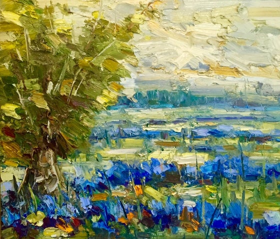 Image of Hill Country Rain - 20x24