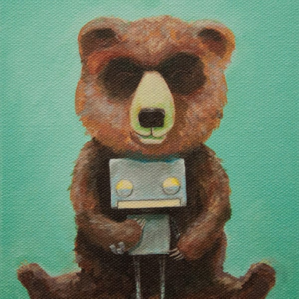 Bear and Robot II - Matt Q. Spangler Illustration