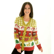 Image of Golden Cracker Christmas Cardigan - Unisex