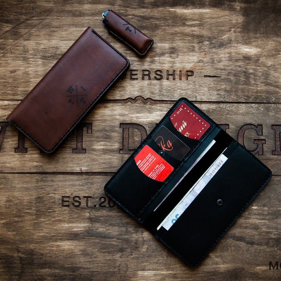 Image of Handmade | Black/Brown Wallet P5