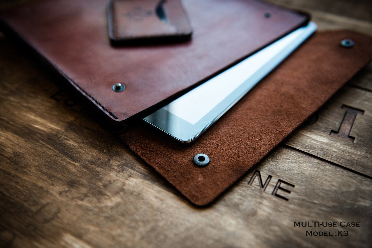 Image of Handmade | Brown Tablet Case K3