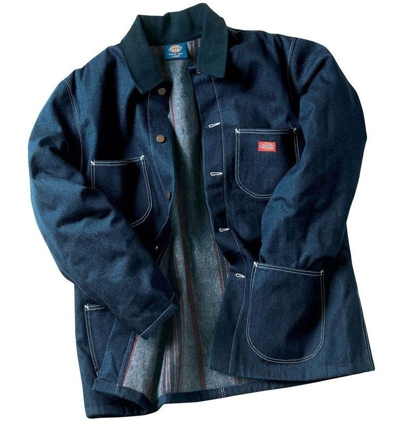 Image of Dickies 3494 Denim Blanket Lined Chore Coat