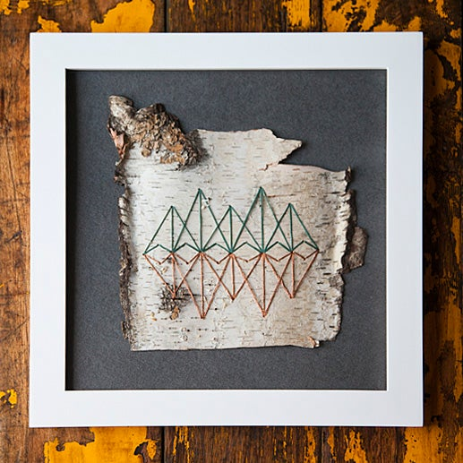 Image of EMBROIDERED BIRCH // REFLECT