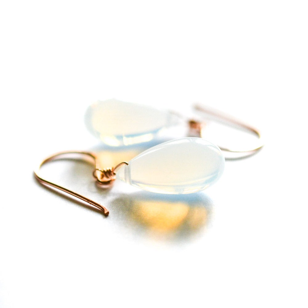 Image of Opalite glass earrings, medium