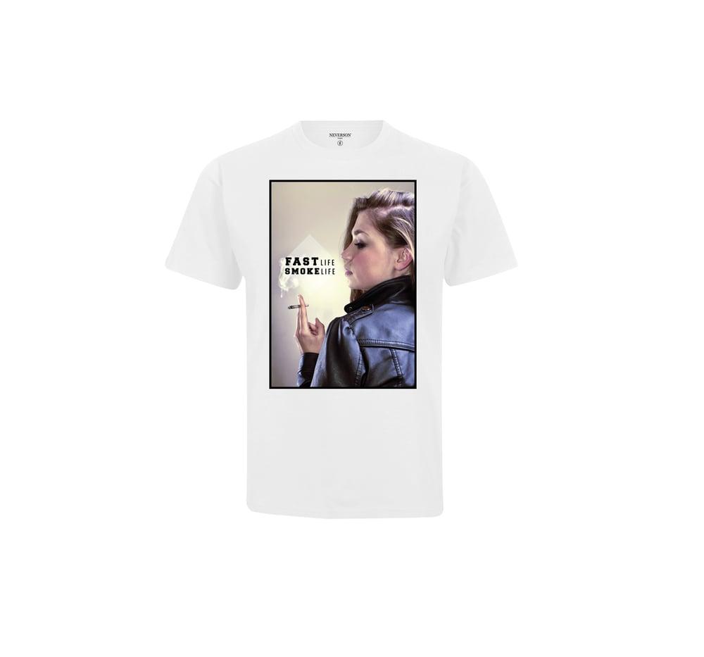 Image of T-shirt Unisex Fast Life - Blanc