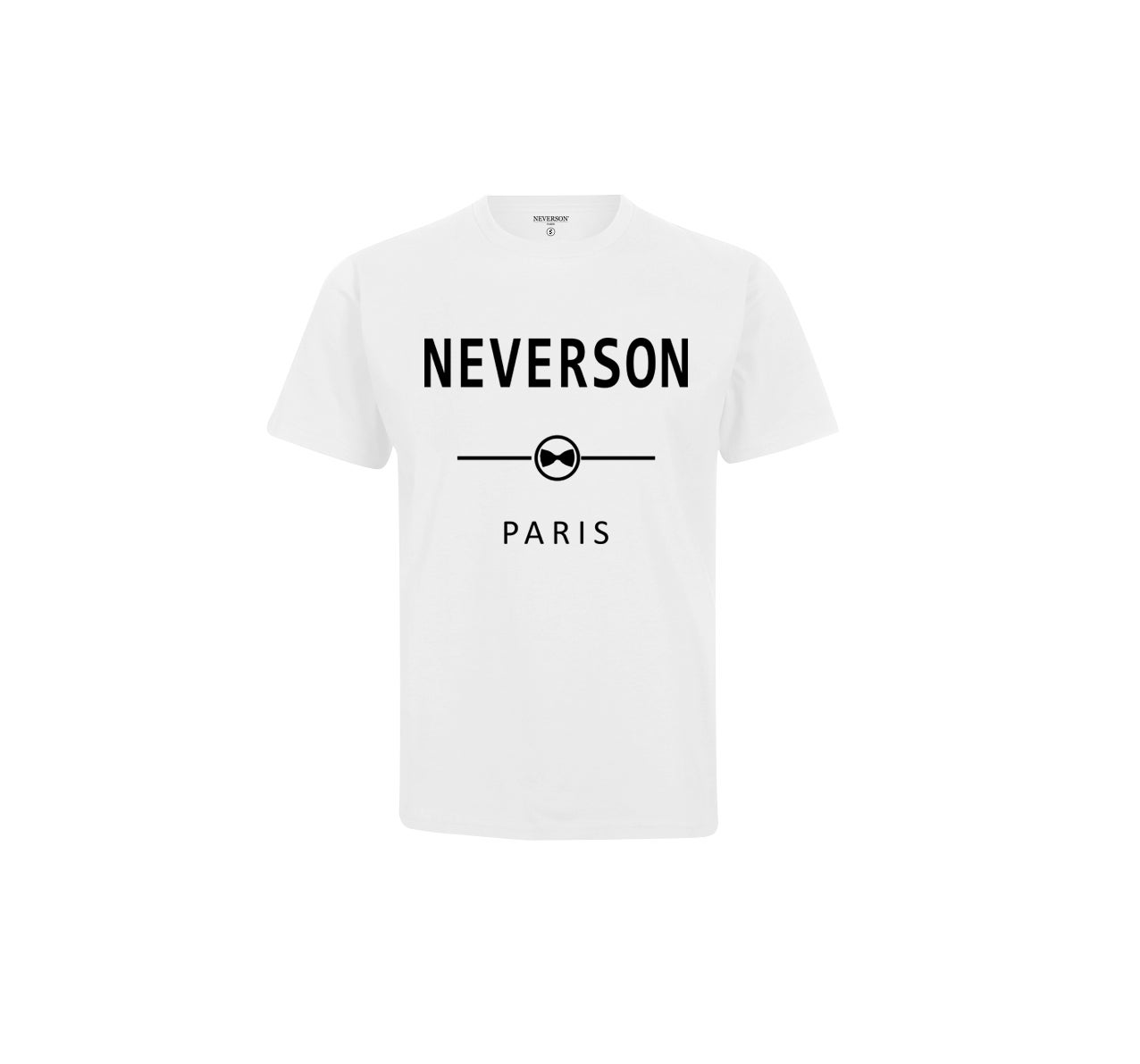 Image of T-shirt Unisex Neverson Paris - Blanc