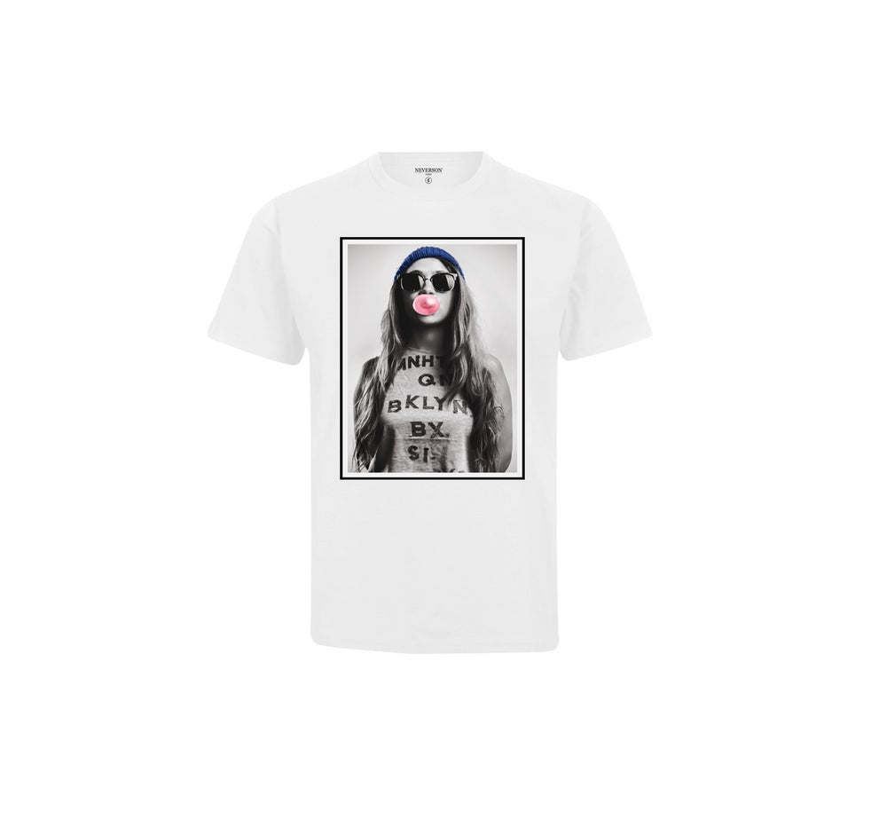 Image of T-shirt Unisex Bubble - Blanc