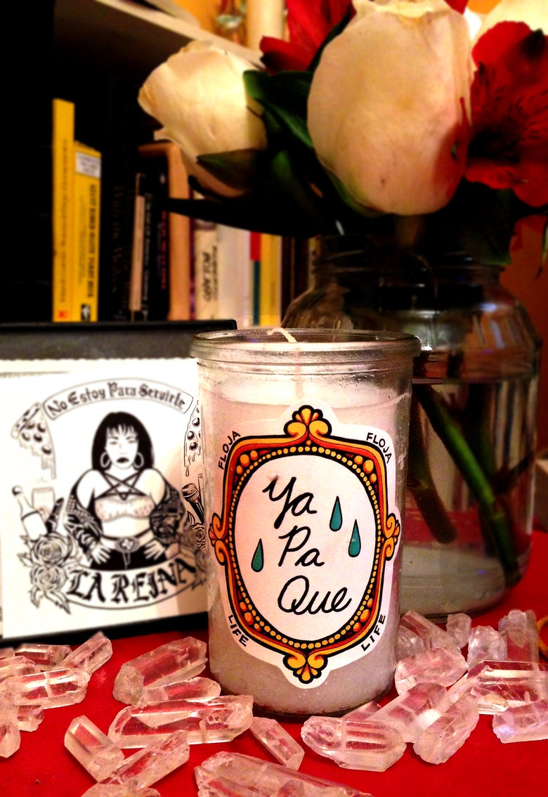 Image of *LIMITED PRE-ORDER* 'Ya Pa Que' Mini Veladora with gift