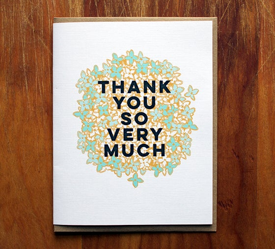 Image of thank you so very much.
