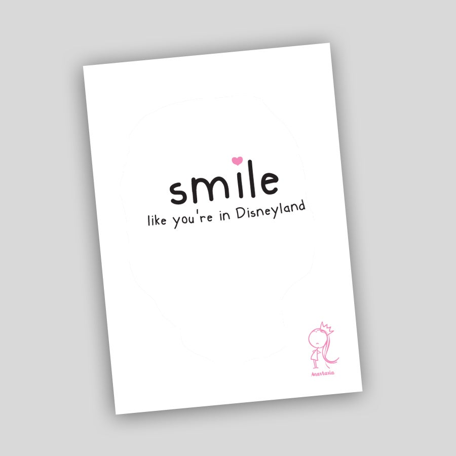 Image of Smile Like You're in Disneyland A3 Poster