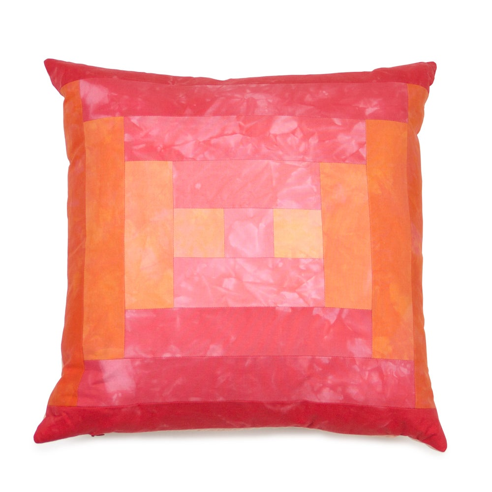 Image of Steps Pillow - Pink and Orange II