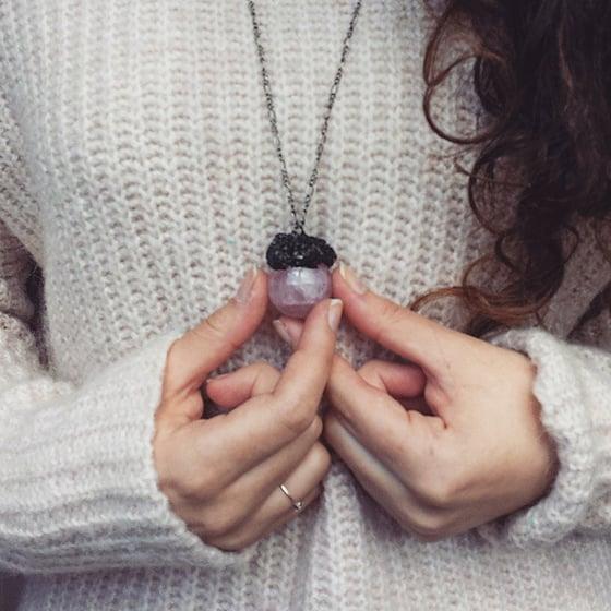 Image of Mystical rose quartz orbs
