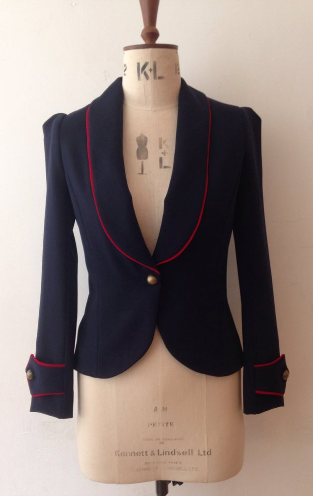 Image of Show jacket with contrast piping