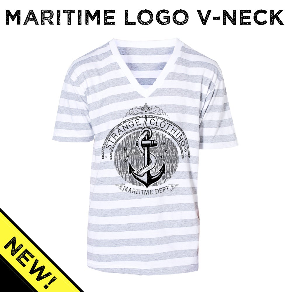 Image of Strange Maritime V-Neck