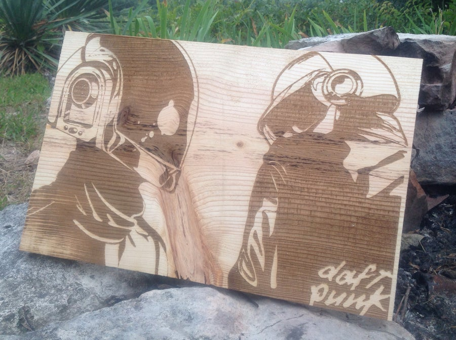 Image of WhoWood™ x Daft Punk Inspired Wood Poster - Large