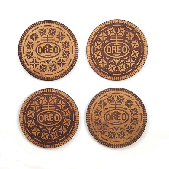 Image of 4pc. Lasercut Oreo Coasters