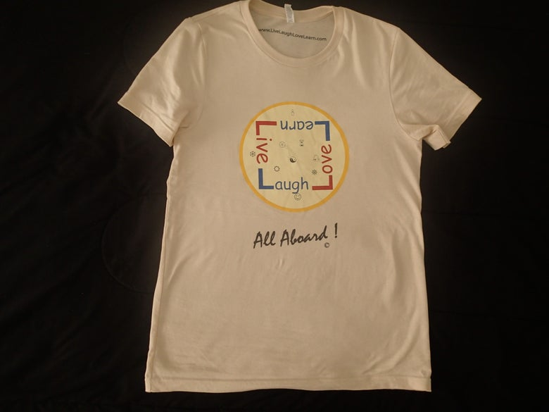 Image of Men's T-shirt - cream - Live Laugh Love Learn - All Aboard