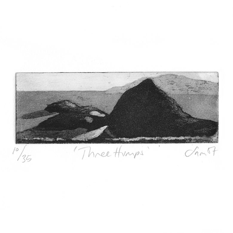 Image of 'Three Humps' - Etching