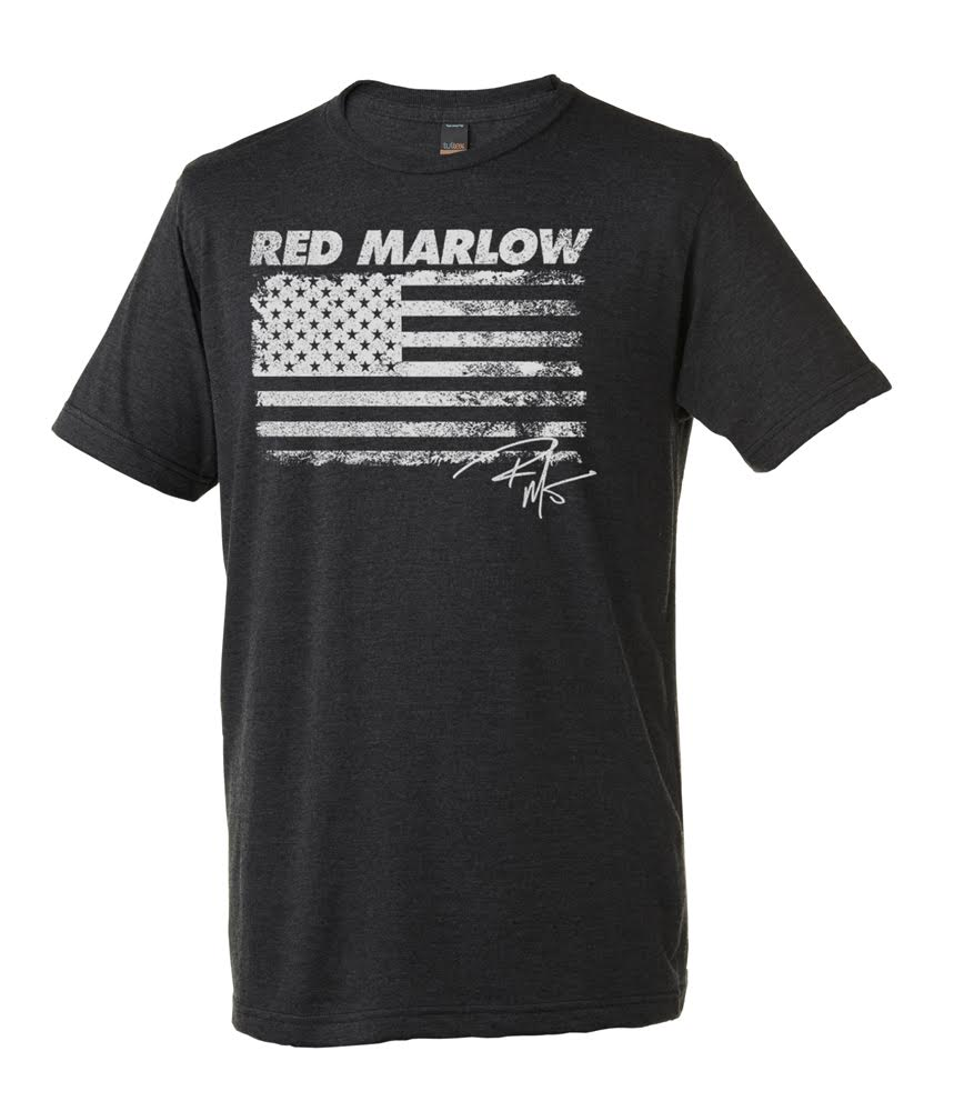 "Image of Red Marlow ""American Flag"" Tee - Dark Grey"