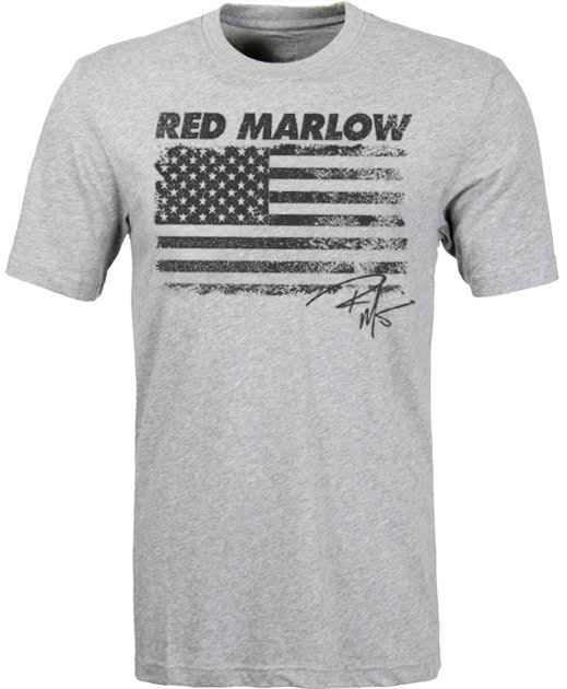 "Image of Red Marlow ""American Flag"" Tee - Lt. Grey"