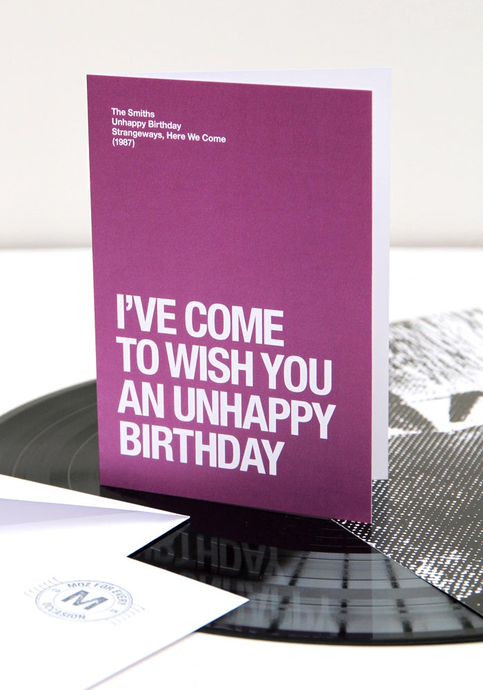 Image of 'Unhappy Birthday' card