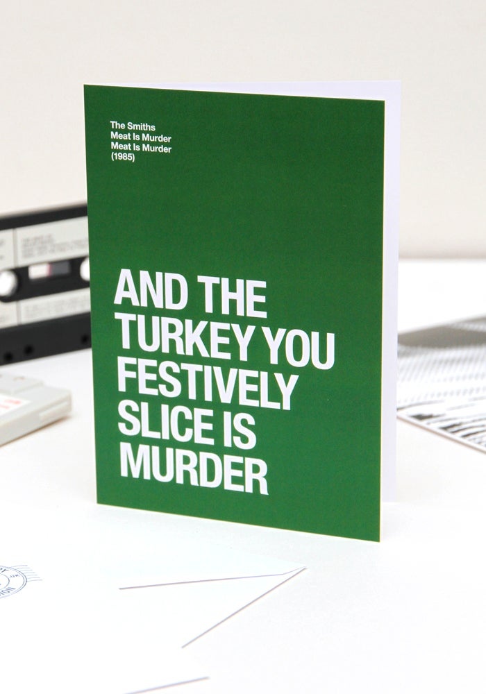 Image of Meat Is Murder – Christmas card