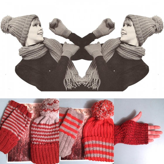 Image of BOBBLE HAT & GLOVES SET