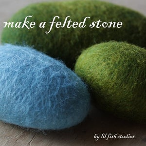 Image of felted stone - pdf tutorial
