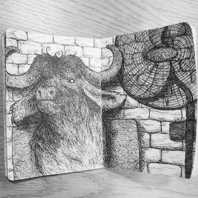 Image of HANDMADE SKETCHBOOK - ORIGINAL ARTWORK