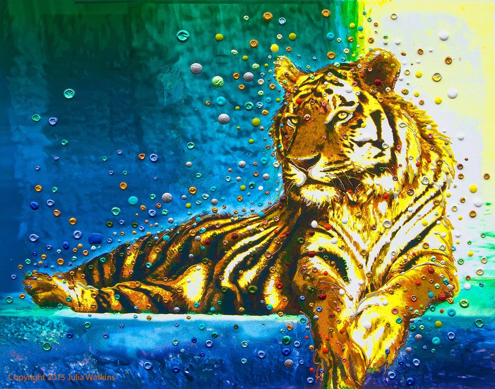 Image of Temple Tiger – Your Personal Spiritual Guardian & Protector - Gicleee Print