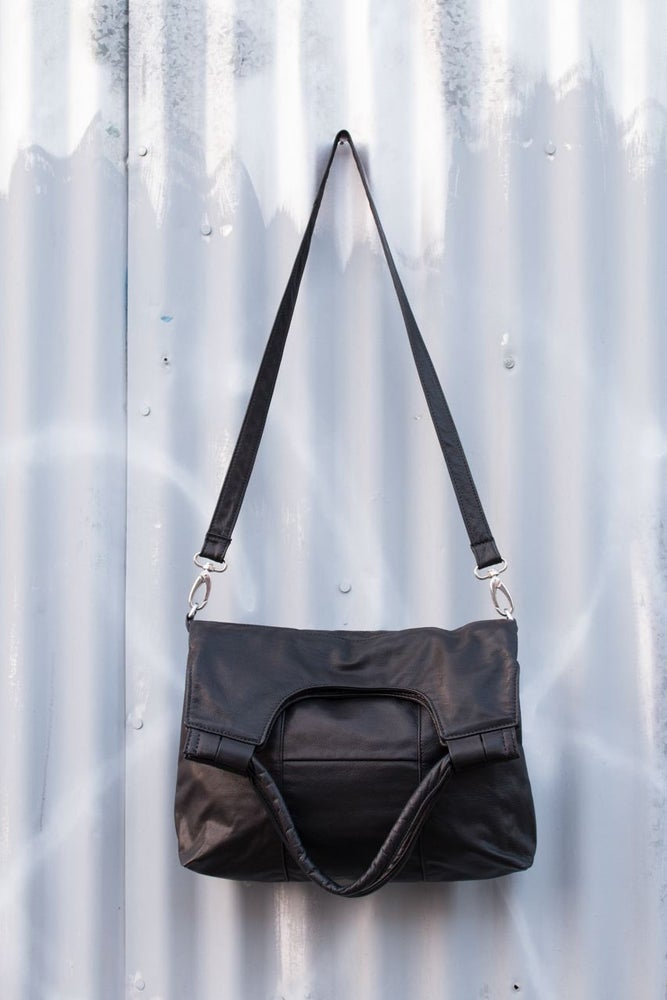 Image of Haarlem - Black Upcycled Leather