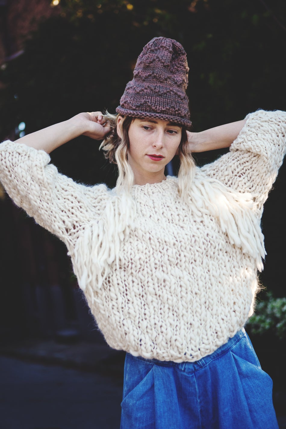 Image of Kingston sweater in merino wool (w/ optional fringe detail)