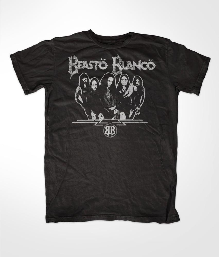 "Image of BEASTO BLANCO - 2015 - ""BAND"" B&W LOGO SHIRT"