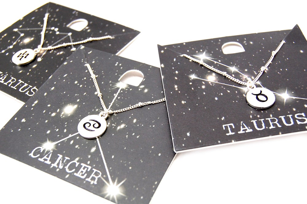 Image of Zodiac Necklace - Select Sign