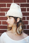Mono chunky Toque / Peruvian wool (shown in natural)