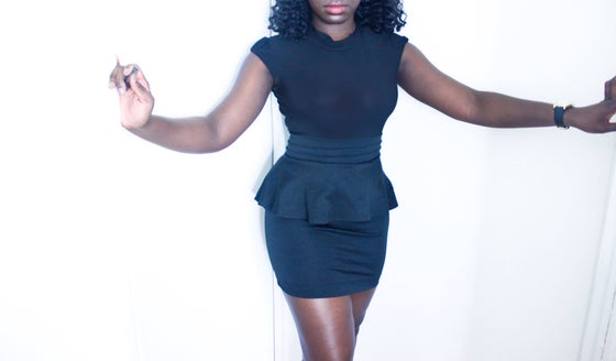 Image of BACKLESS PEPLUM PARTY DRESS
