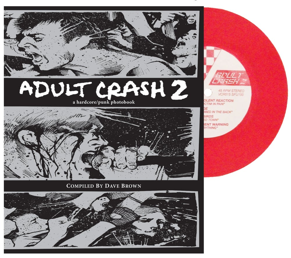 Image of Adult Crash 2 photobook & RED vinyl 7""