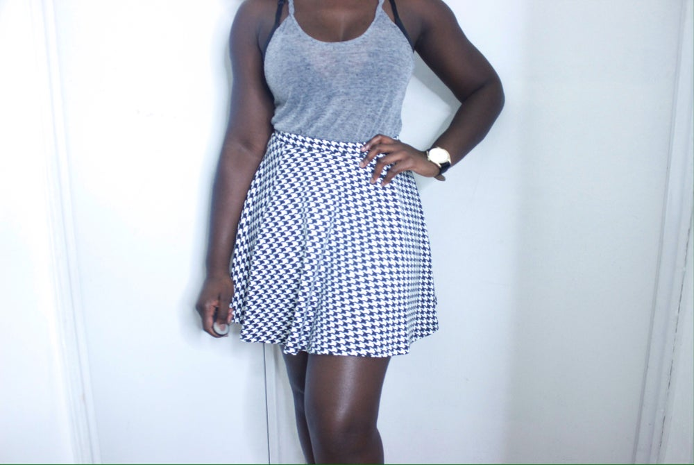 Image of HOUNDSTOOTH SKIRT
