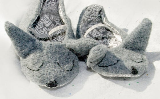Image of Little wolf baby shoes