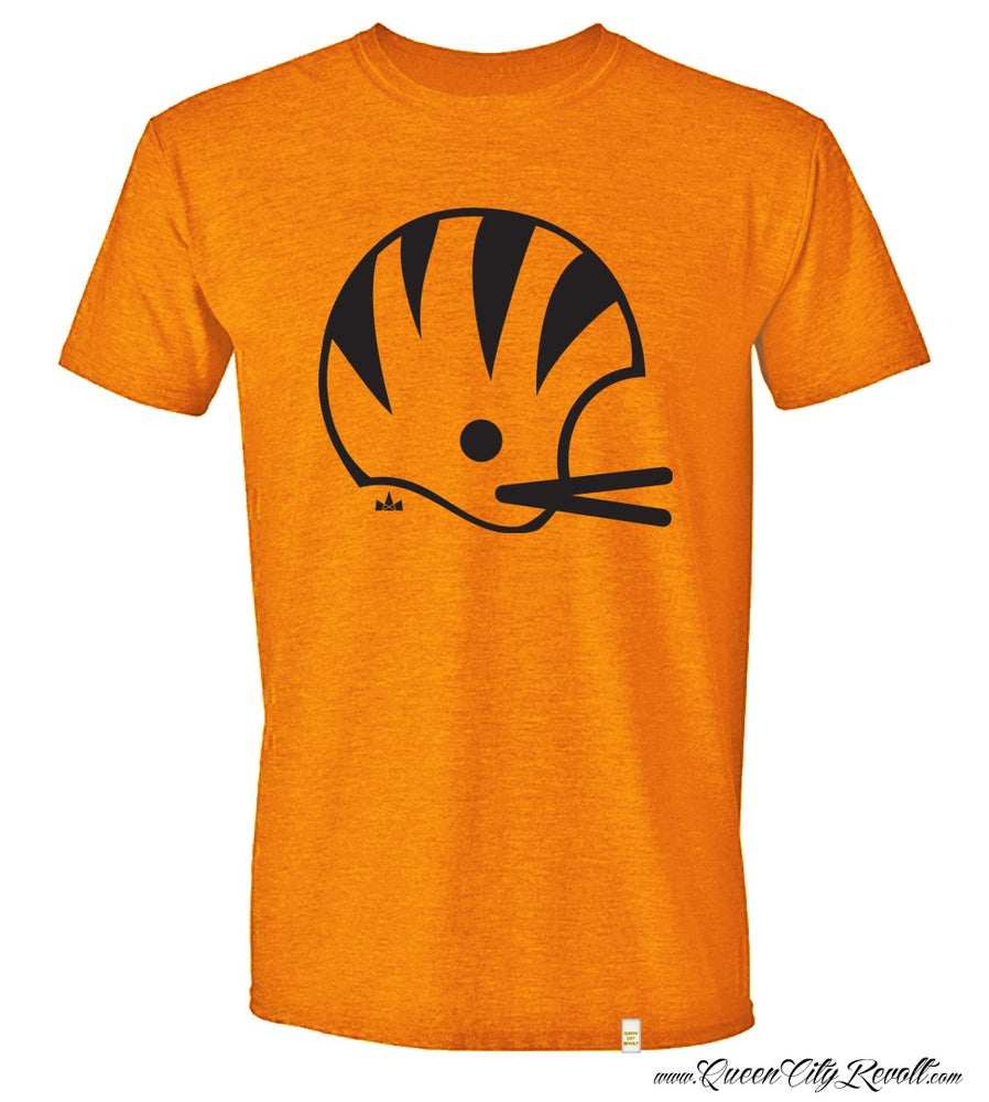 Image of Cincinnati Football Helmet Tee, Orange